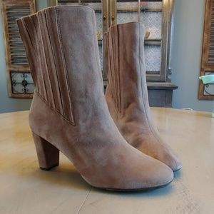 Womens Aerosoles Fifth Ave Tan Suede Boots